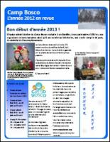 Bulletin Camp Bosco janvier 2013